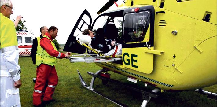 Helikopterordning reducerer transporttiden for blodprop-patienter