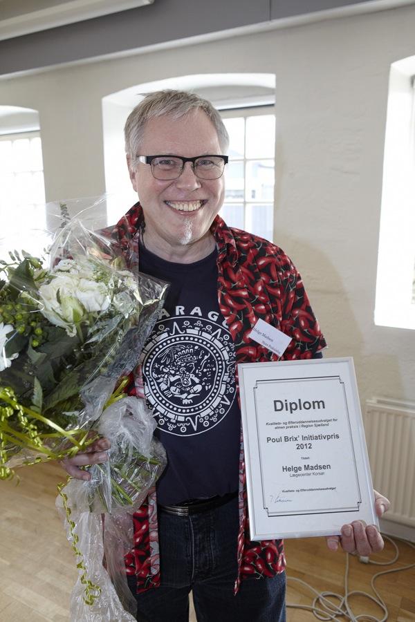 Helge Madsen modtager nystiftet pris for praktiserende læger