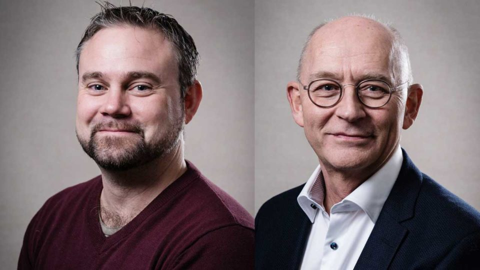 Ulrich Fredberg (V) og Mikkel Rasmussen (P),