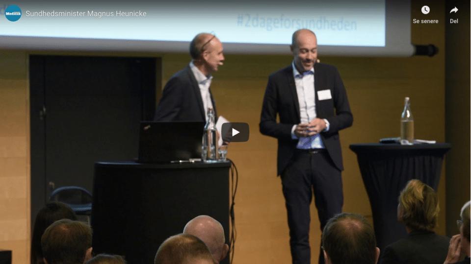 VIDEO: Se og hør, hvad sundhedsminister Magnus Heunicke sagde til '2 dage for sundheden'
