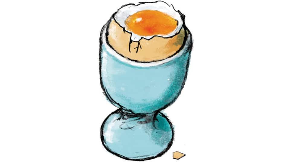 Vind et blødkogt æg