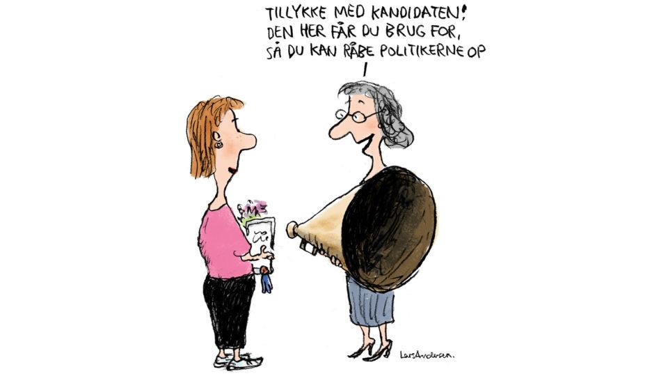 Giv fageksperterne nøglen til indflydelse på Christiansborg