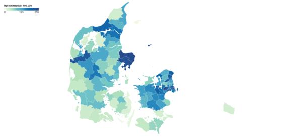 Så mange er smittet med COVID-19 i din kommune