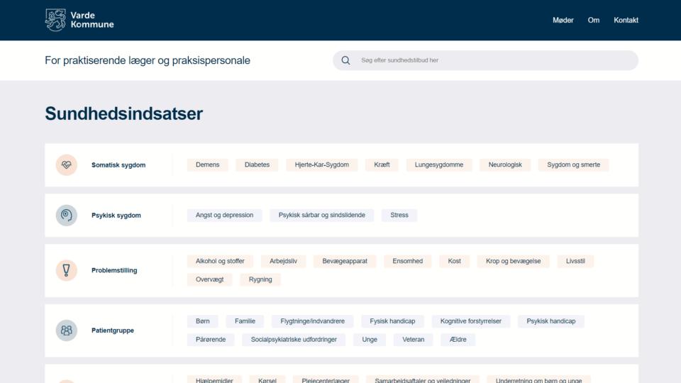 Ny hjemmeside guider Vardes praksislæger gennem kommunale tilbud