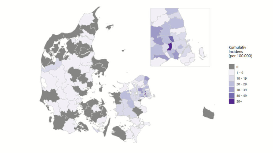 36 kommuner har ikke haft nye smittede den seneste uge