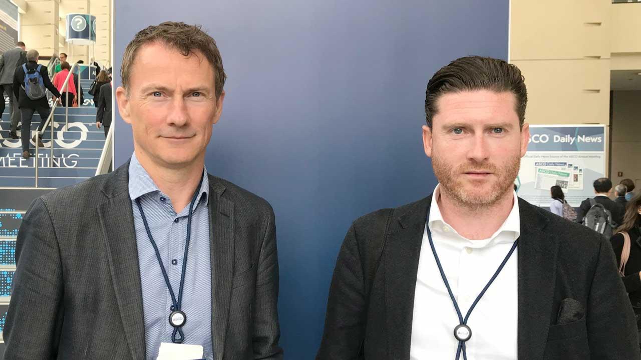 Claus Johansen (tv) og Michael Novod