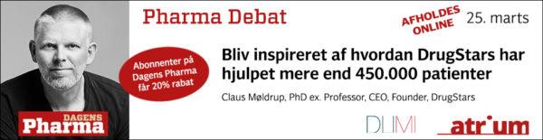 pharma debat marts 2021 claus møldrup drugstars